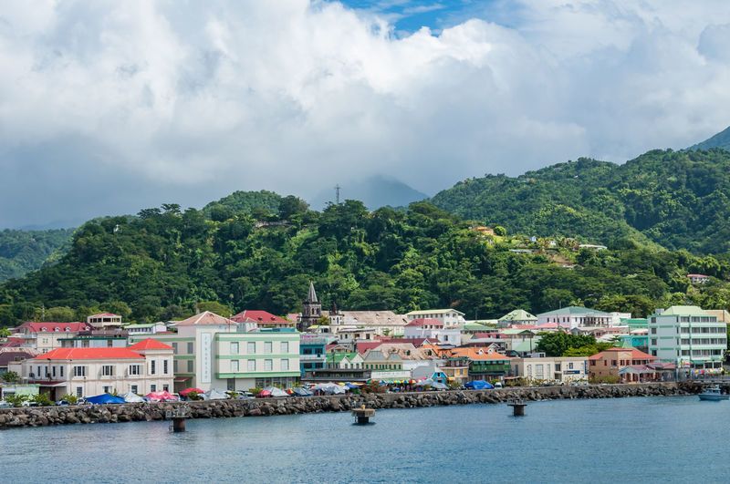 Caribbean Island Caribbean Sea Dominica Houses Architecture Beach Beauty In Nature Building Exterior Built Structure Caribbean Cloud - Sky Coast Day Mountain Nature Nautical Vessel No People Outdoors Scenics Sea Sky Tree Water Waterfront