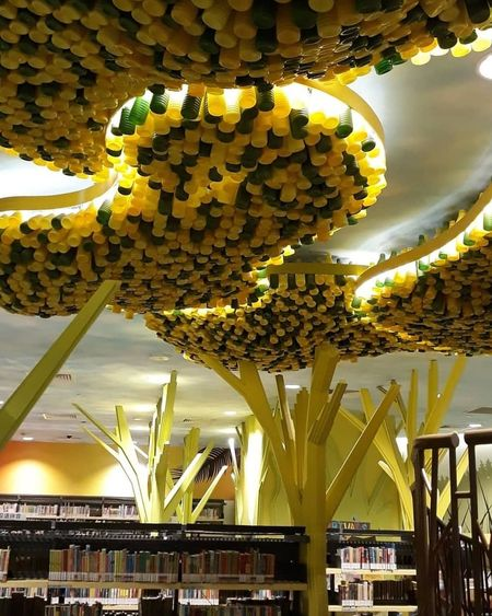 Recycled Leaves Made Of Recycled Materials Recycled Plastic Bottles Architecture Sky Built Structure