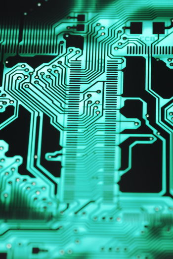 Circuit Board Close-up Complexity Double Sided Electronics Industry Plated Through Hole Printed Circuit Printed Circuit Board Printed Circuit Boards PTH Technology