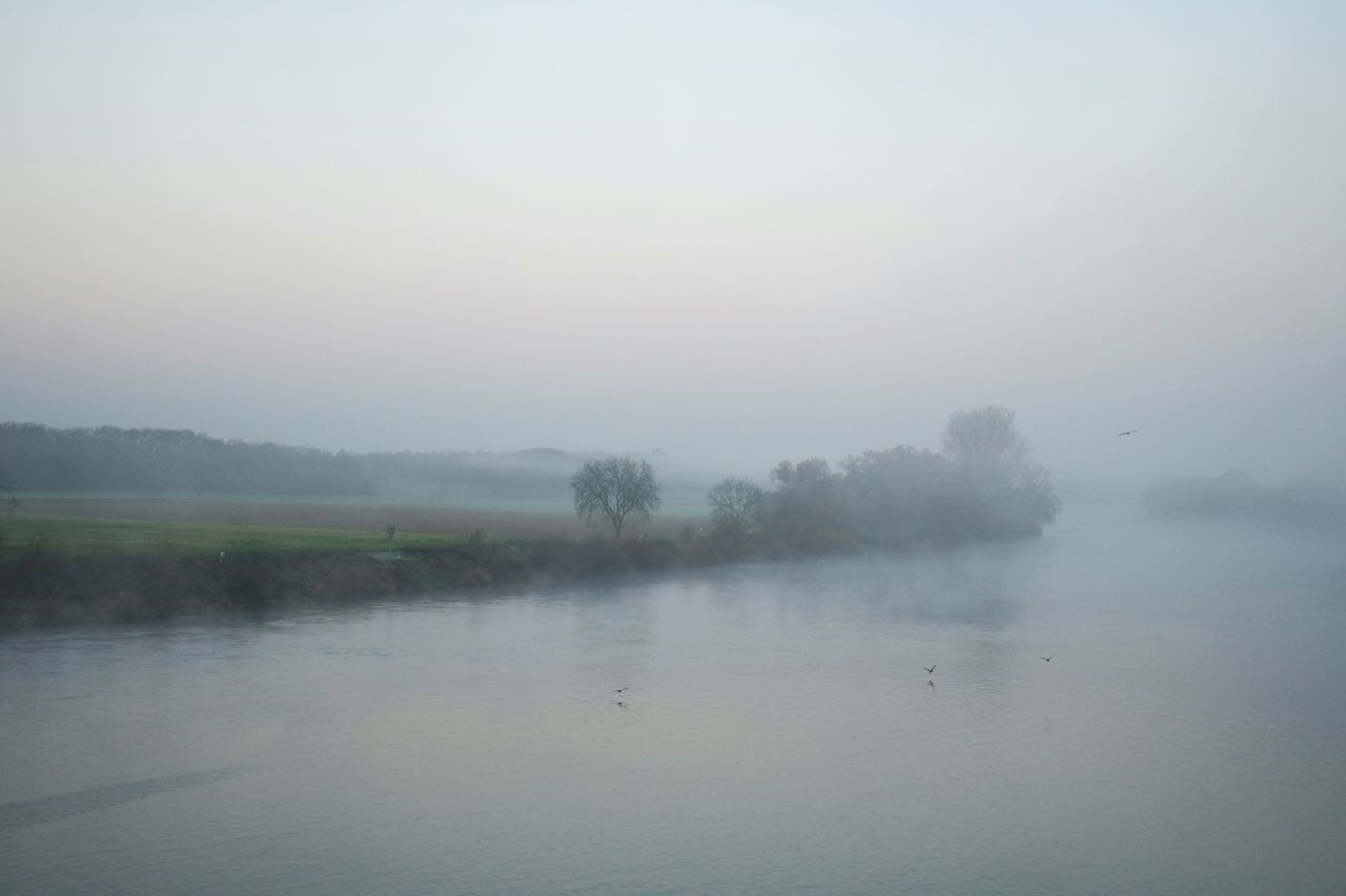View Of River In Foggy Weather