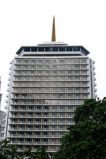 Bangkok, Thailand - April 28, 2017 : A Dusit Thani Bangkok Hotel Bangkok Thailand. City Cityscape Dusit Thani Hotel Architecture Building Exterior Built Structure Outdoors Skyscraper