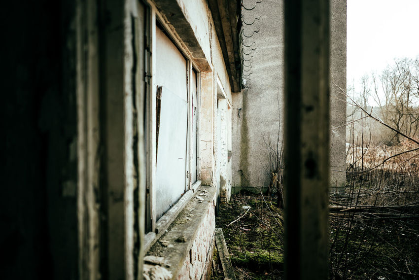 Abandoned place Abandoned & Derelict Abandoned Places Gazebo Abandoned Architecture Bad Condition Building Built Structure Damaged Day Decline Deterioration Door Entrance Nature No People Obsolete Old Outdoors Ruined Run-down Selective Focus Weathered Window Window View