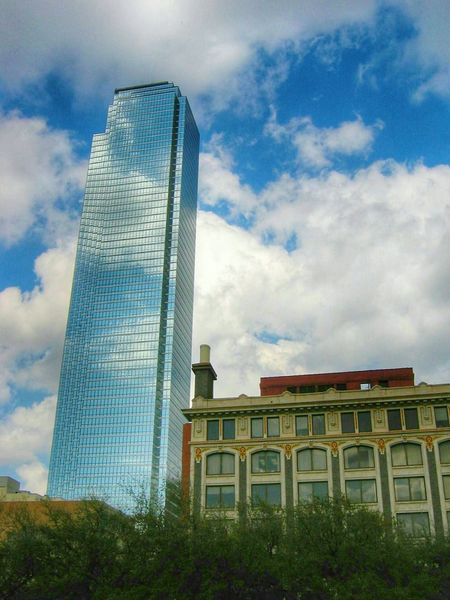 The Changing City Architeture - Old And New Sky And Clouds Reflections Canonphotography Coloful Something Different Dallas Texas Skyscraper