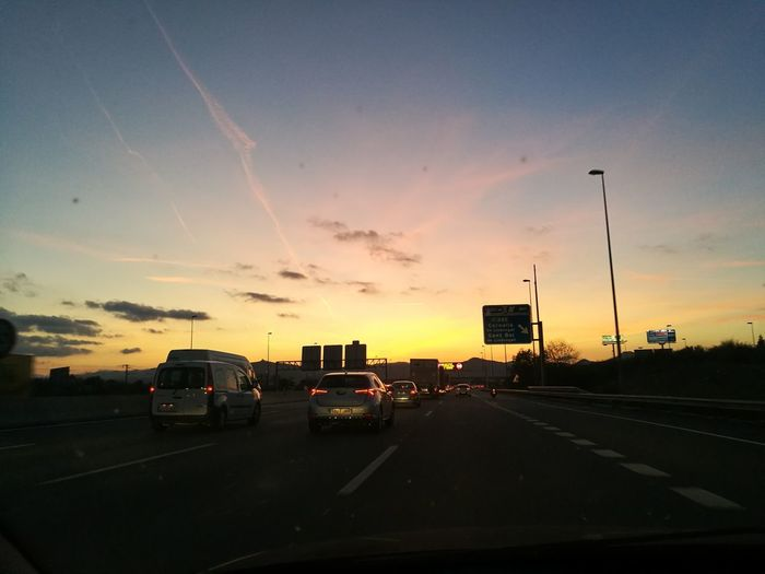 Back Home ♥ Car Transportation Land Vehicle Sunset Cloud - Sky Dramatic Sky Mode Of Transport Road Sky No People Outdoors Day