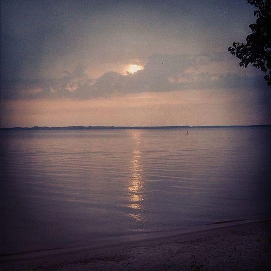 Sonnenuntergang Amstrandvomplauersee Verspätet