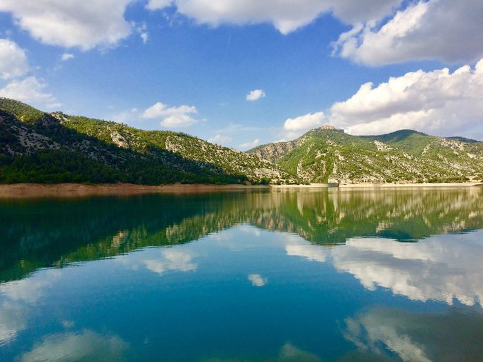 Water Reflection Sky Cloud - Sky Lake Beauty In Nature Nature Tranquility Mountain Plant Scenics - Nature