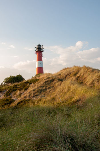 Sylt, Germany Architecture Building Building Exterior Built Structure Cloud - Sky Day Direction Field Grass Guidance Land Lighthouse Nature No People Outdoors Plant Protection Safety Security Sky Tower