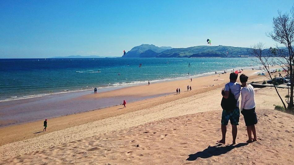 Surfing Enjoying The Sun Sea Playa Laredo Cantabria Spain Relaxing Protecting Where We Play