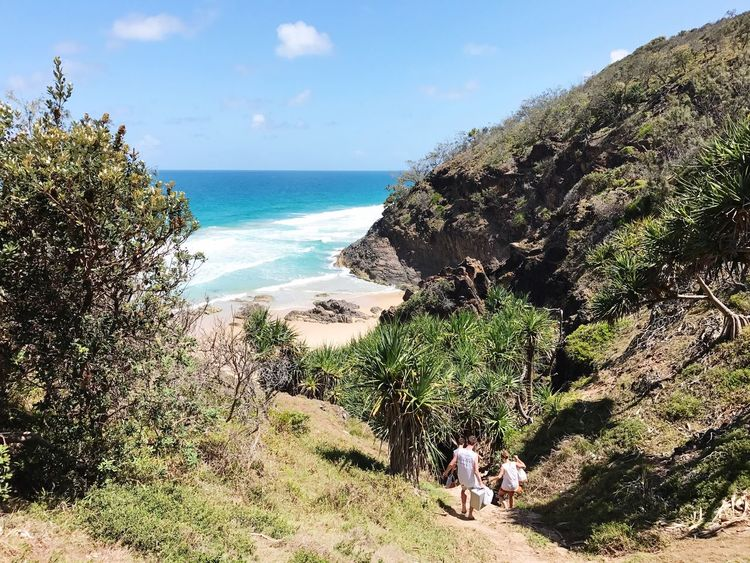 Heading down to Hidden Beach, a short walk along a bush track through the Noosa National Park, north of Sunshine Beach! Sea Horizon Over Water Nature Beauty In Nature Scenics Sky Water Beach Tranquility Tranquil Scene Outdoors Queensland Wilderness Noosa Sunshine Day Seashore