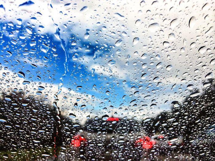 Rain Traffic Driving Water Droplets