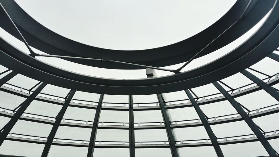 Architectural detail of the reichstag