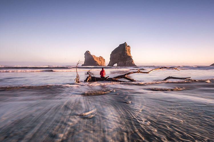 Huge rocks amidst sea
