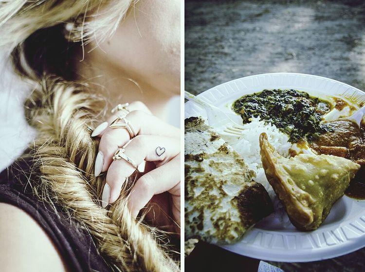 Summer with love Indian Food Tikkamasala Fishtail Braid Finger Tattoos