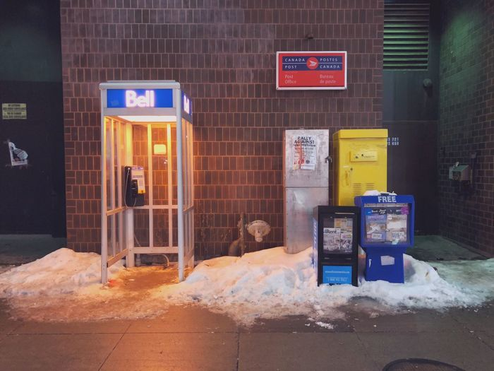 Illuminated telephone booth