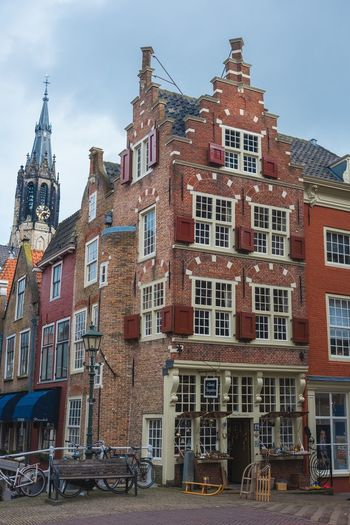 Architecture Building Exterior Built Structure City Sky Outdoors No People Day Delft Canal History The Netherlands Old Town Church Historical Building Old Monument My Favorite Picture  The Week Of Eyeem