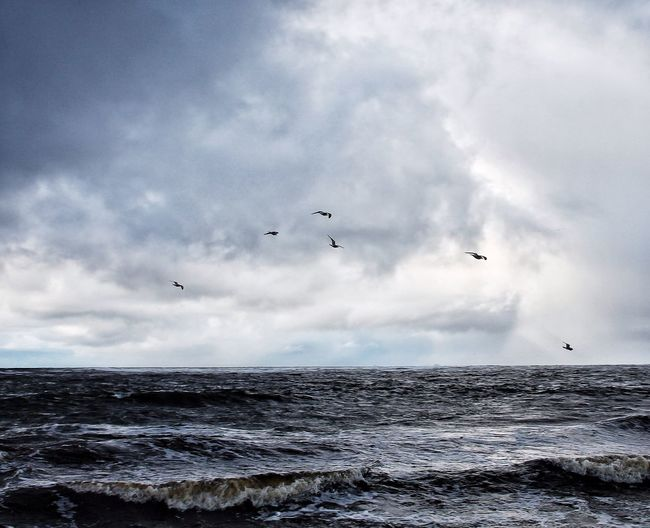 """""""As the great sea-flood comes and goes. The tide within us ebbs and flows. And high above us everywhere, scream the wild gulls in the wild air."""" Life Is A Beach Tadaa Community Cloud And Water Thewildatlanticway"""