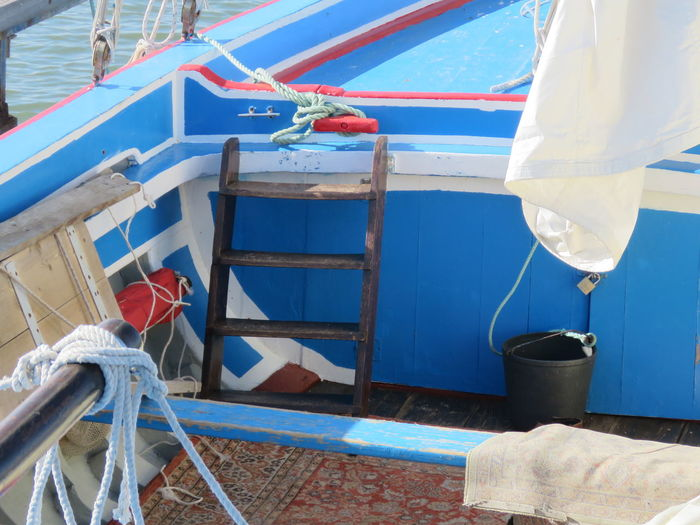 Men Boat Deck Outdoors Day Bucket Part Of Rope Stairs No People Blue Boat Wood - Material Wood Wood Boat EyeEm Best Shots Check This Out River Boat Sailboat Boat Interior Docked Docked Boat Locked Locked Up Sailing Boat Sailing