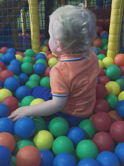 Childhood Baby Babyhood Real People One Person Multi Colored Lifestyles Leisure Activity Indoors  Full Length Ball Day Balls Play Playing Play Area Soft Play Toddler  Toddlerlife Toddleryears Family Love Nephew  Family❤ Babysitting Long Goodbye
