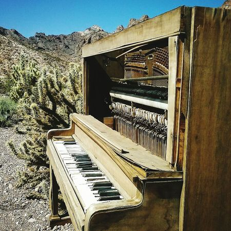 Piano Piano Keys Vintage Piano California Desert Mountains Day No People Music Piano Moments