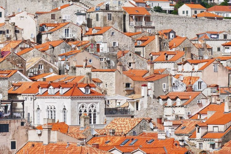 Building Exterior Architecture Orange Color Built Structure Travel Travel Destinations Crowded Outdoors Backgrounds Day dubrovnik