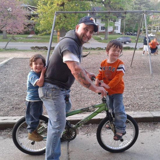 Went for a bike ride! =) Bikes Bicycle Kids Family spring summer familyfun children sports