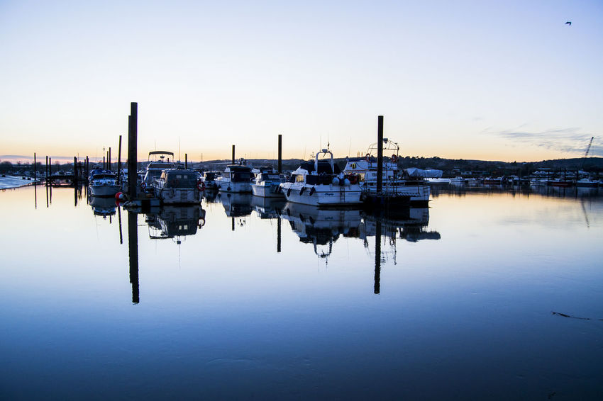 reflective Water Reflections Boats Sunset_collection Natural Beauty Taking Photos Contrast Shadows & Lights