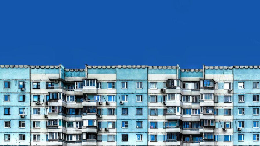 Residential Building Against Blue Sky