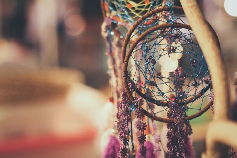 Close-up Of Dreamcatchers