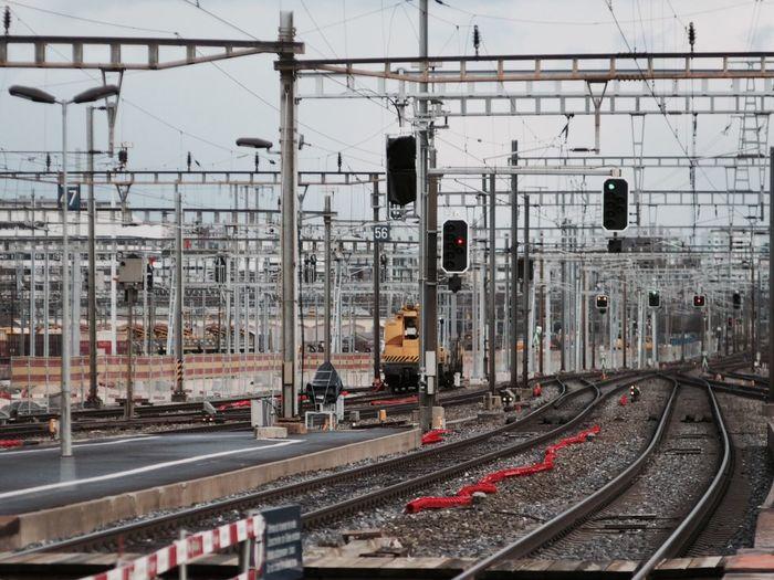 Poles Along Railway Tracks