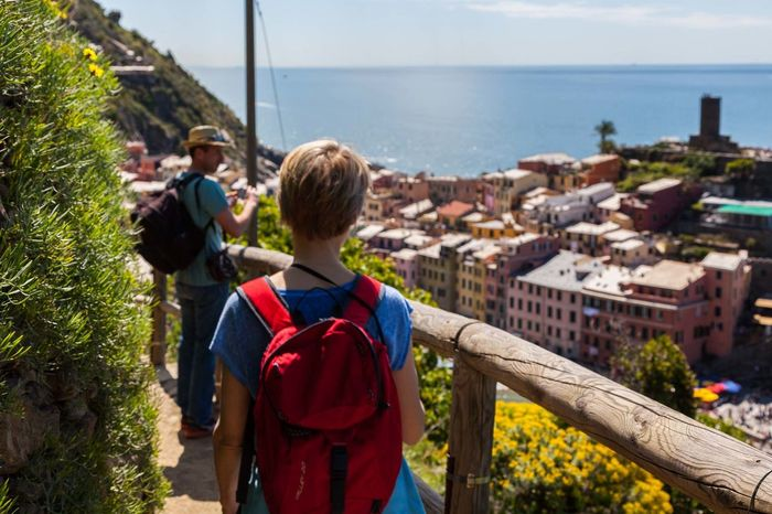5 Terre Architecture Building Exterior Child Childhood Children Only Day Hiking Horizon Over Water Italy Liguria Males  Nature Naturelovers Outdoors People Real People Sea Sky Sport Standing Travel Travel Destinations Trekking Water