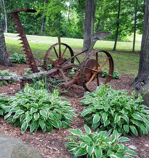 Work Days are Over.... Wagon Wheel Green Color Rusty Weathered