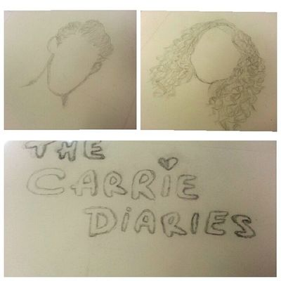 The letters are a little crappy, but whatever :) Myartskills Thecarriediaries  Love Art
