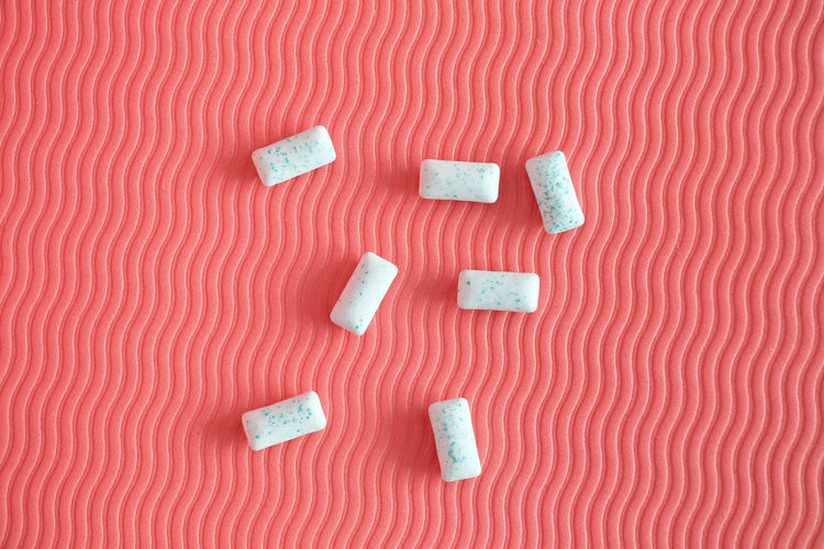 High angle view of marshmallow on table