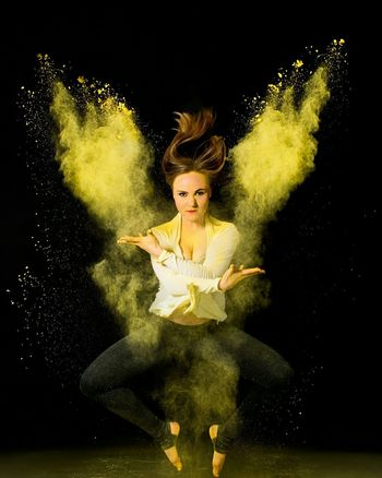 Playing with powder! We had the best time doing this photoshoot! Taking Photos Studio Photography Powder Holi Festival Of Colours Holi Powder Dance Dancer Dance Life Angel Angelwings