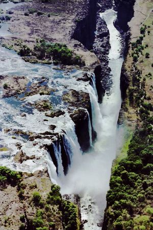 Victoria Falls. Africa. Taken with film 21 years ago and retouched. Africa Victoriafalls Zimbabwe Waterfalls Water Landscape Nature Beauty African African Beauty Mist Ariel Shot Magnificent