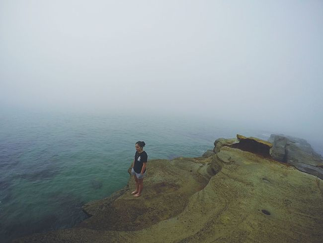 Fog Over Water Beach Fog Morning Scenery Nature Home