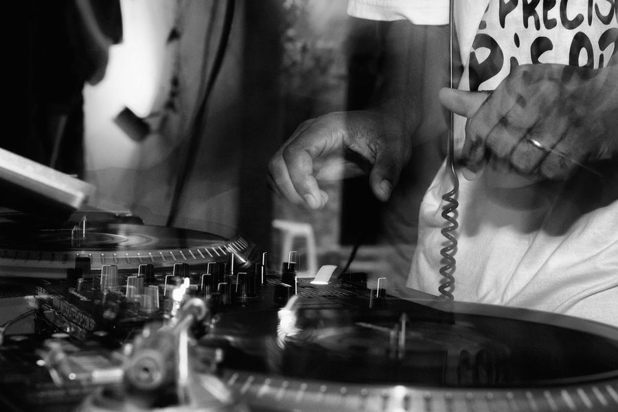 Pbphoto Black And White HipHop Long Exposure Flash Photography Human Body Part Human Hand Dj
