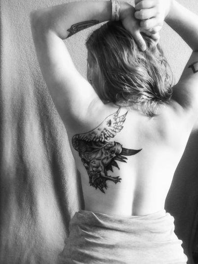 Tattookonwent Gdansktattookonwent Edycjajubileuszowa Tattooaddict  Tattooing EyeEm Selects Motherhood Leicacamera Feminism Blackandwhite Young Women Human Back Women Females Back Beautiful Woman Close-up Shoulder Human Skin Human Body