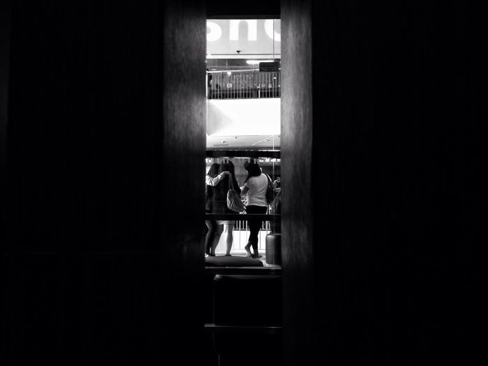 Groufie Real People Indoors  Togetherness Streetphotography Two People Men Leisure Activity Standing Women Lifestyles Day Bonding Friendship Full Length Architecture Young Adult People EyeEm Best Shots EyeemPhilippines Eyeemvision Bnw Street