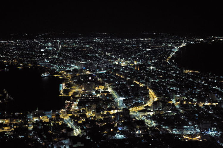 Hakodate Hakodate,Hokkaido,Japan Mobility In Mega Cities Observatory City Cityscape Hakodate-shi Illuminated Night No People