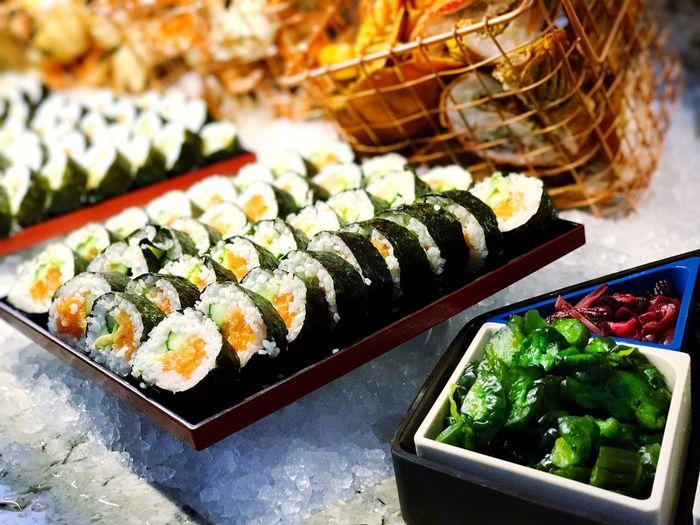 Close-up of sushi