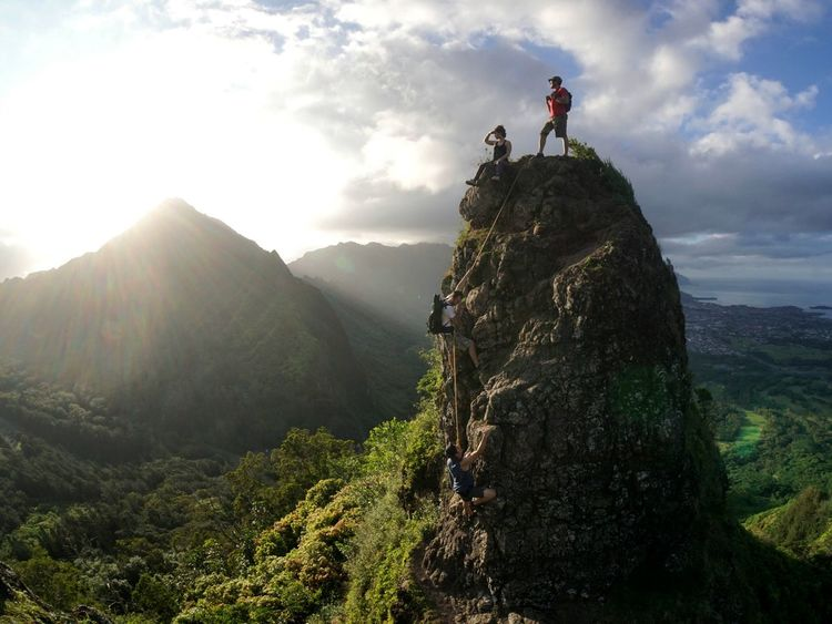 Gathered the squad and headed out the door. Dispersing items into eachothers bags to travel lightly; we explored the mountains of Oahu where we had the opportunity to witness an amazing sunset with an amazing view. Let's Go. Together. Lost In The Landscape