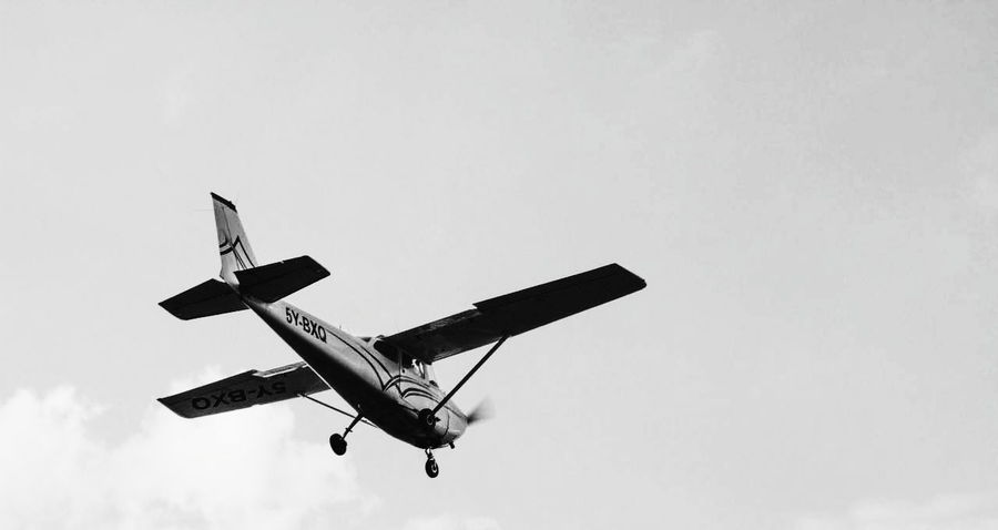 Monochrome Photography Flying Airplane Black And White Aviationporn Sky