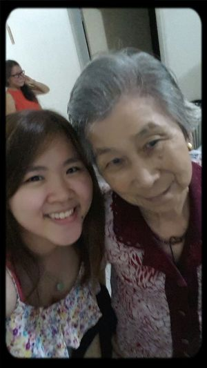 Happy bay to beloved grandma ? Selfie ✌ With Grandma Happy Birthday! Love♡