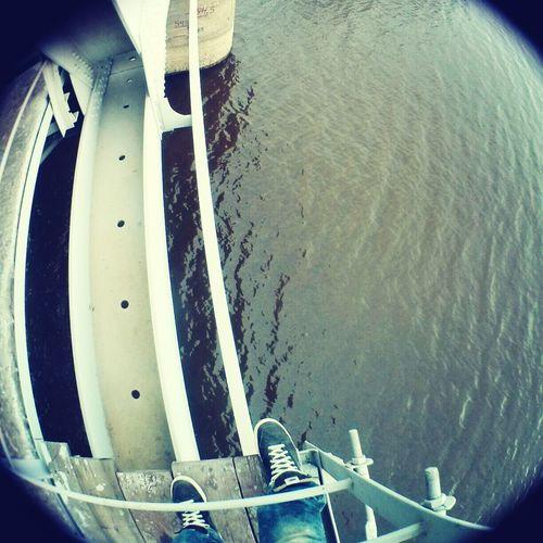On The Bridge River Fish Eye Height