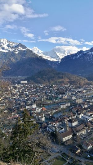 Schibeflue Interlaken Bernese Oberland Switzerland Eye4photography  cityscapes Landscape Eiger Moench Jungfrau EyeEm Selects City Cityscape Tree Mountain Snow Winter Town Residential Building Aerial View Snowcapped Mountain TOWNSCAPE Snow Covered