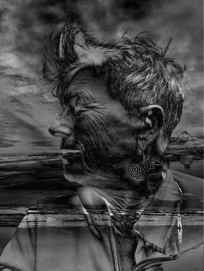 Adult Blackandwhite Blackandwhite Photography Blended Close Up And Far Away Composite Day Double Exposure Headshot Inspiring Life Quotes Layered Lifestyles Ocean One Person Outdoors Real People Sky Water Woman