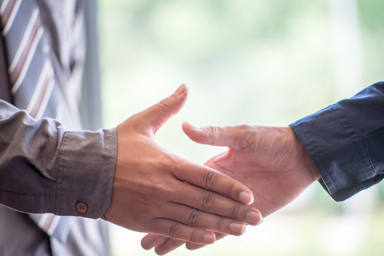Adult Agreement Body Part Business Cooperation Day Finger Focus On Foreground Greeting Hand Handshake Human Body Part Human Finger Human Hand Men Partnership - Teamwork People Positive Emotion Real People Teamwork Togetherness Two People