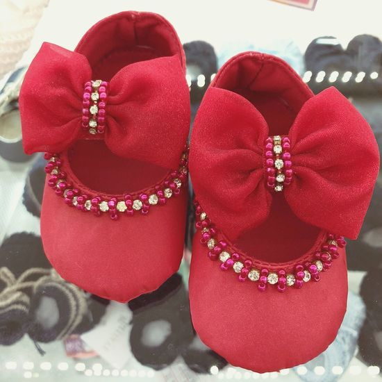 Baby shoes Red No People Indoors  Close-up Clothing Celebration Still Life