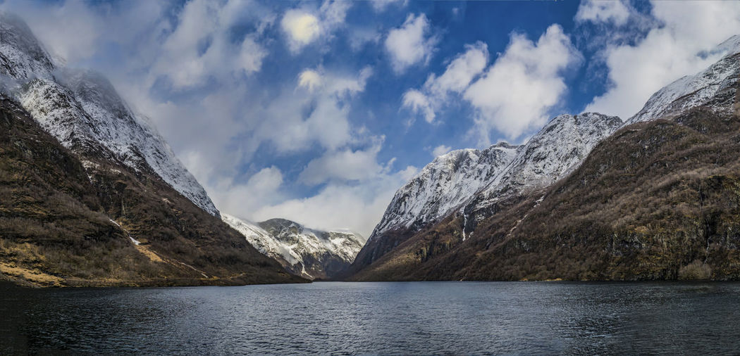 Cloud - Sky Fjord Mountain No People Noregrets Outdoors Panorama Panoramic Photography Sky Sognefjord